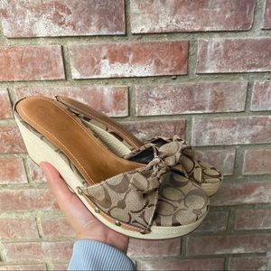 Coach Brown Logo Sandals Shoes Lorah